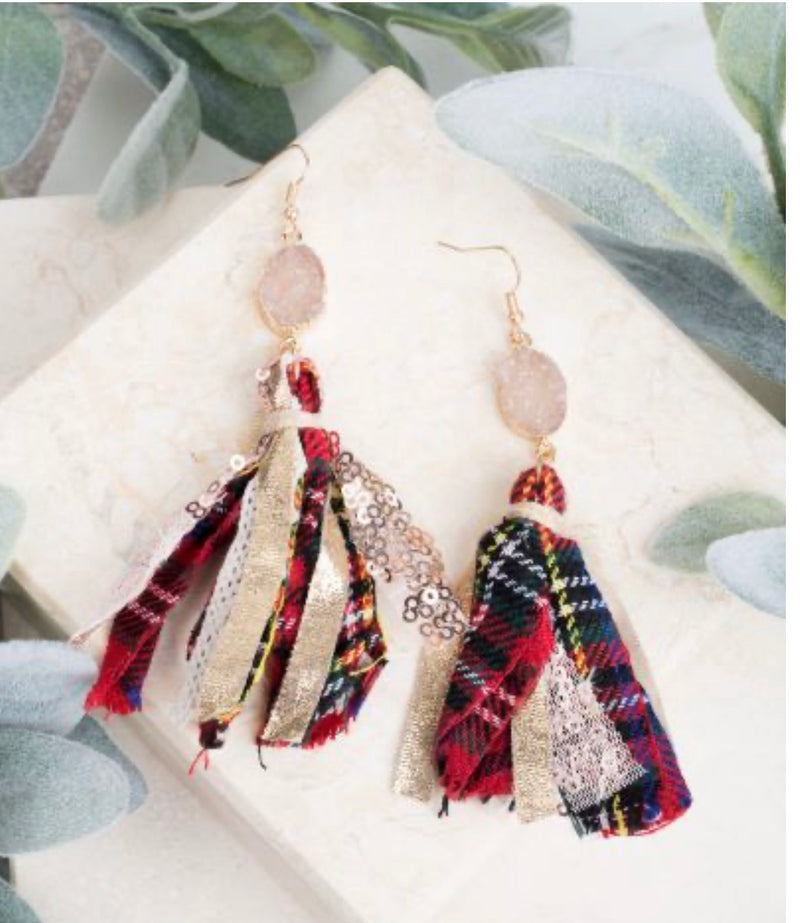 Deck the Halls Druzy Earrings