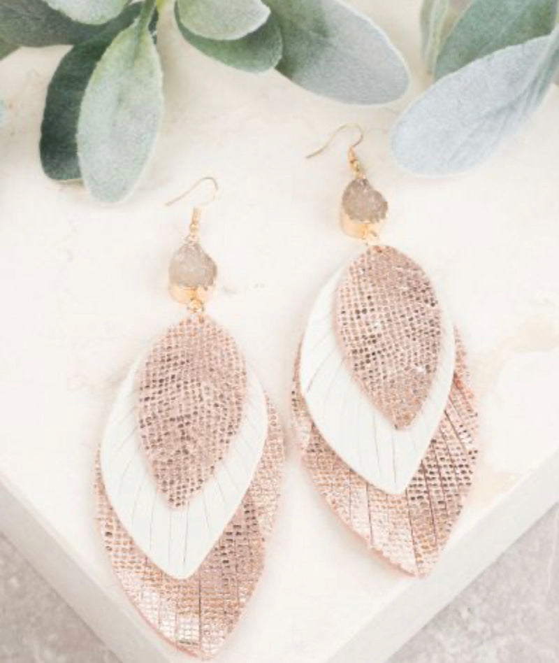Nothing Better Earrings-Rose Gold
