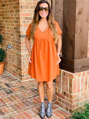 Fall Essential Dress-Rust