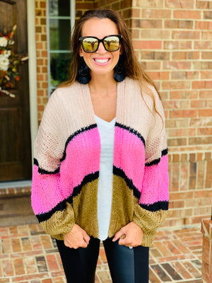 Think Pink Sweater Cardi