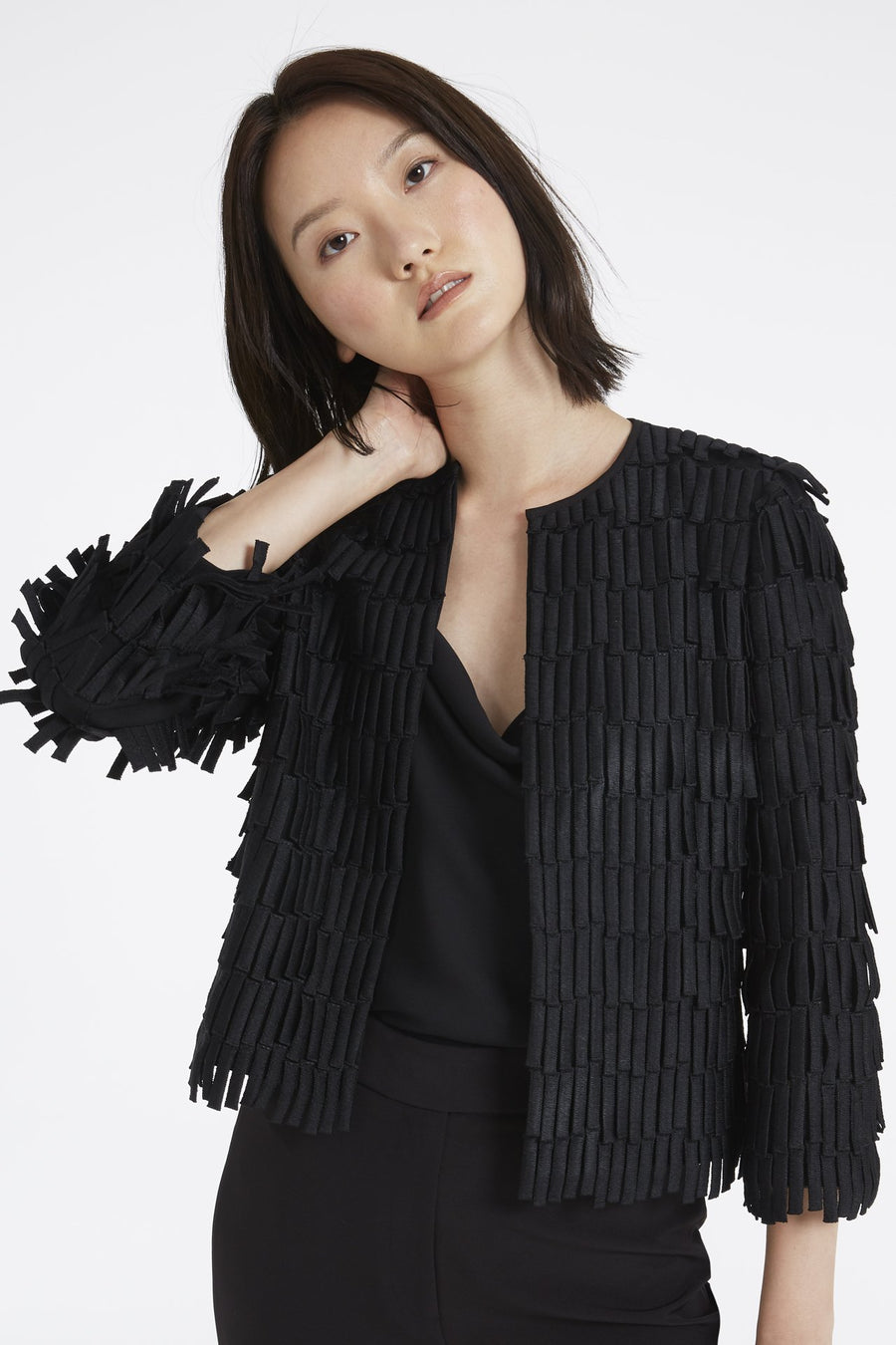 Fringe Embroidery Jacket