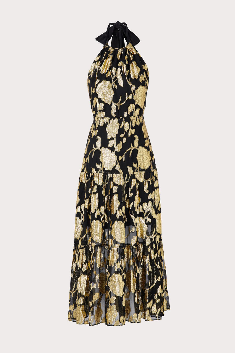 Hayden Metallic Clip Chiffon Dress