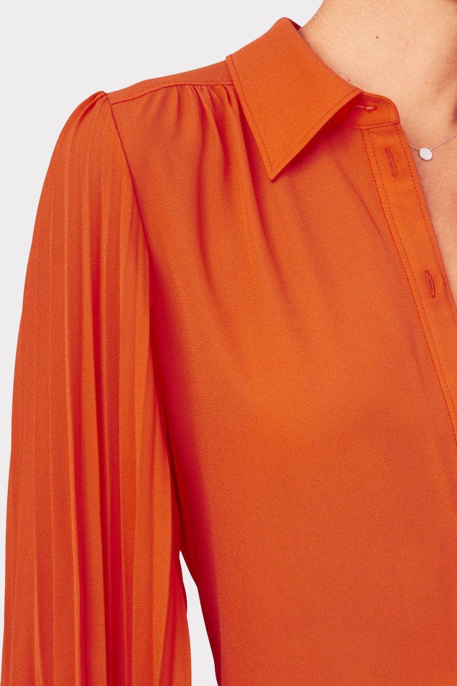 Lina Pleated Blouse