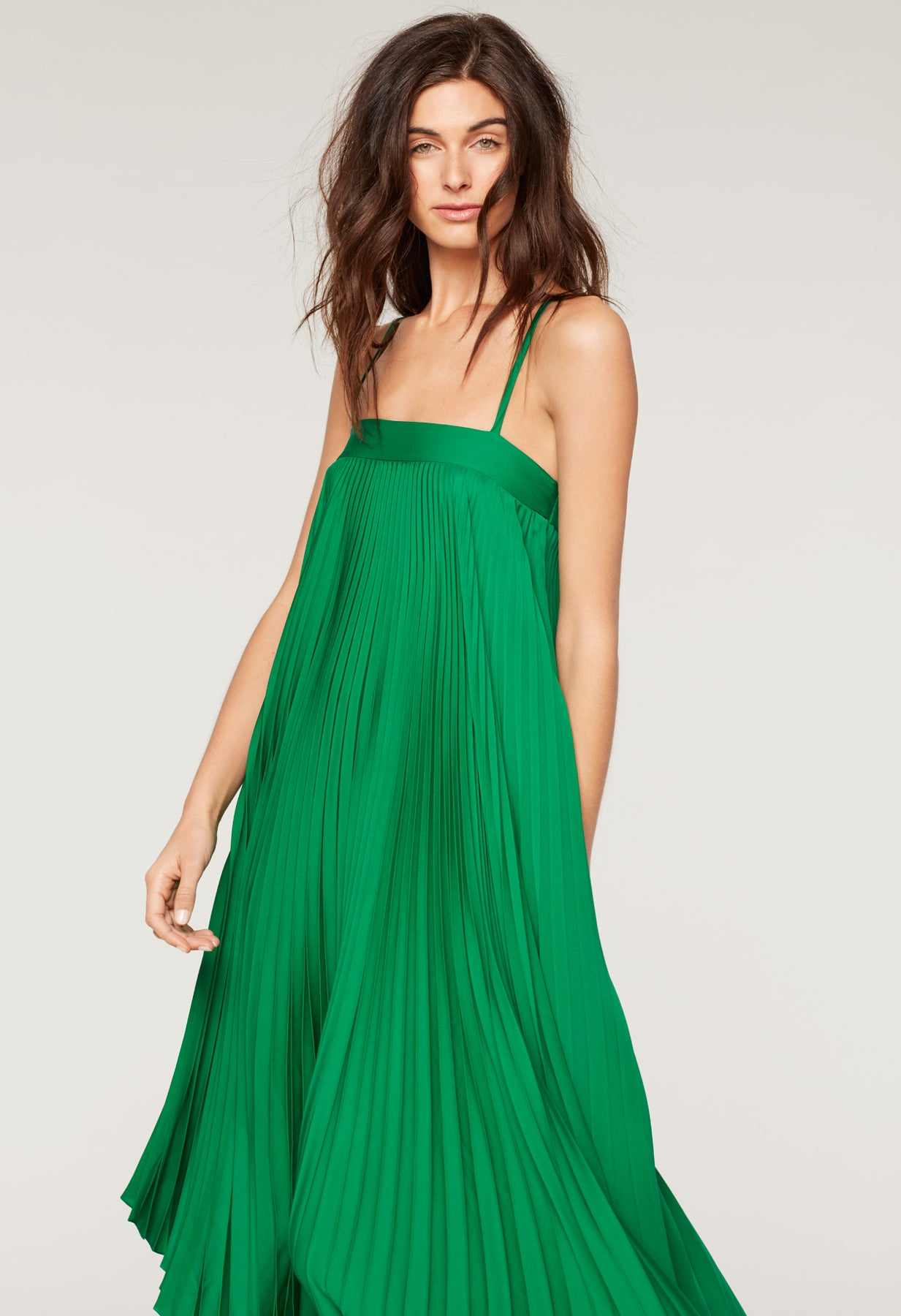 Stretch Silk Pleated Irene Dress - Milly | MILLY