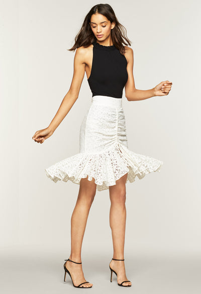 Floral Lace Brittany Skirt - MILLY | MILLY