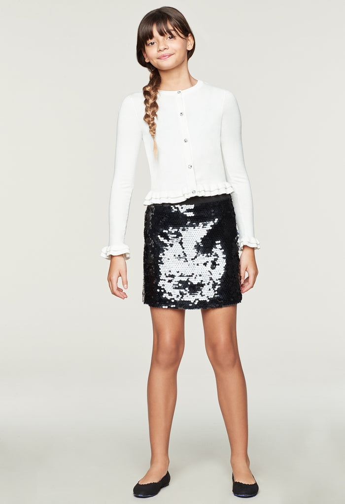 d90f21adc53918 Milly Minis Paillette Modest Mini Skirt Milly Minis Paillette Modest Mini  Skirt
