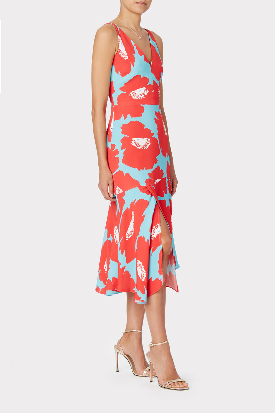 Dashielle Poppy Floral Viscose Dress