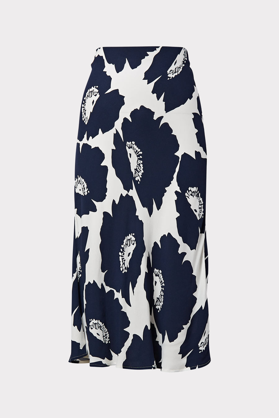 Bias Poppy Floral Viscose Skirt