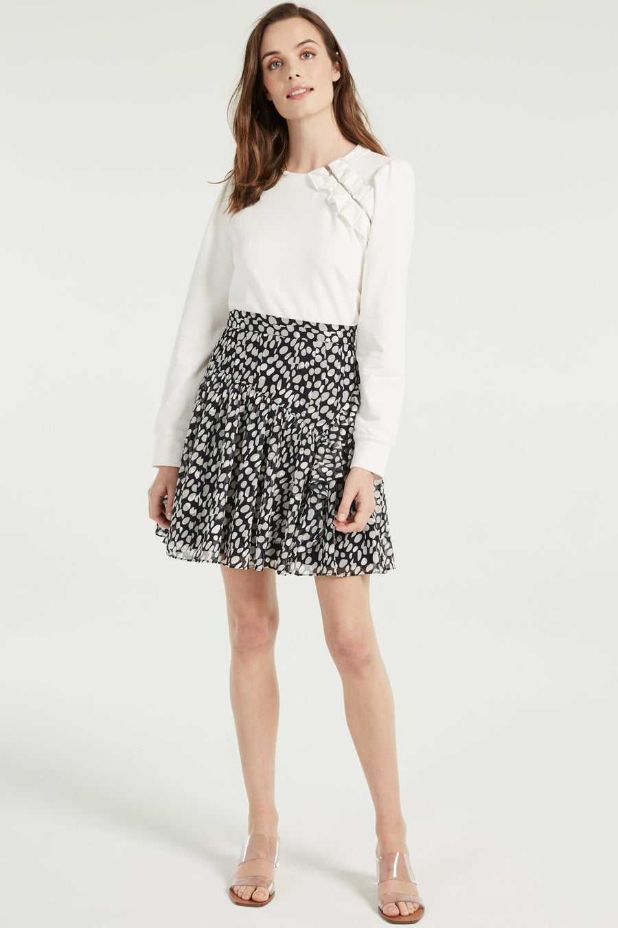Heidi Abstract Dot Burnout Skirt