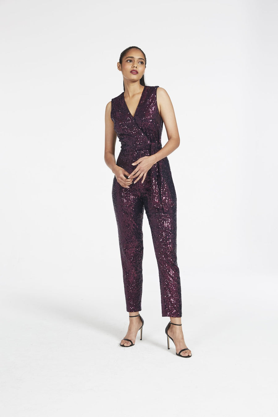 Micro Stretch Sequin Jumpsuit