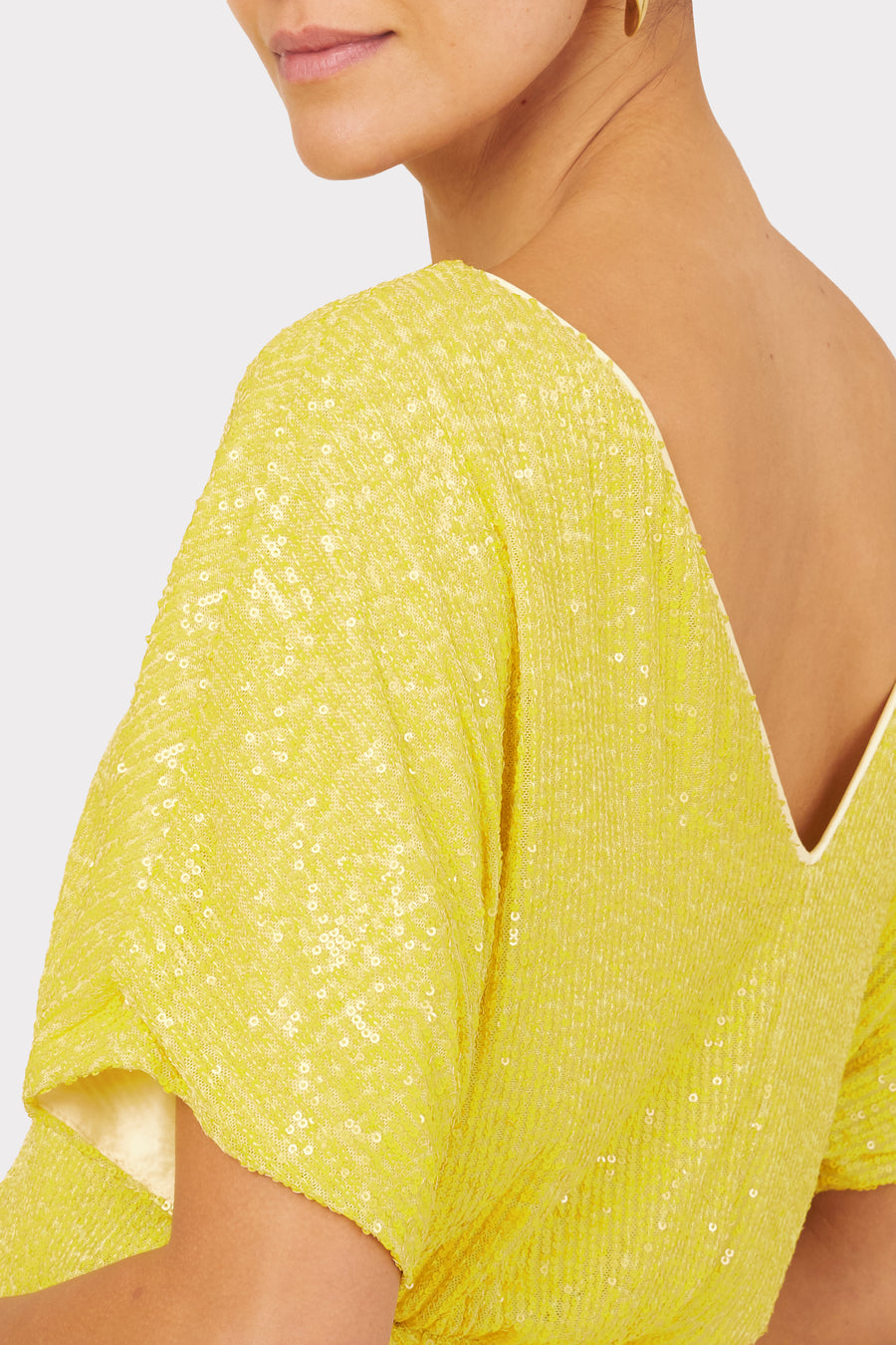 Stretch Micro Sequins Dolman Top