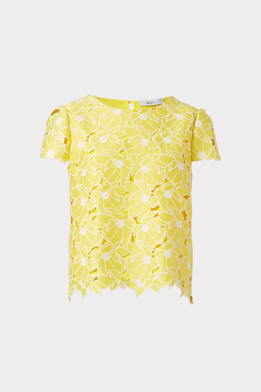 Tropical Lily Embroidery Baby T Top