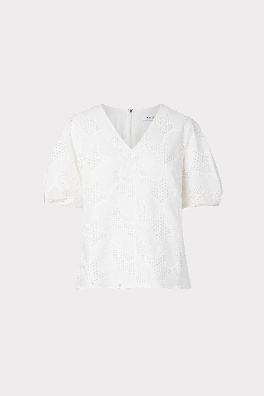Maci Pieres Eyelet Puff Sleeve Top