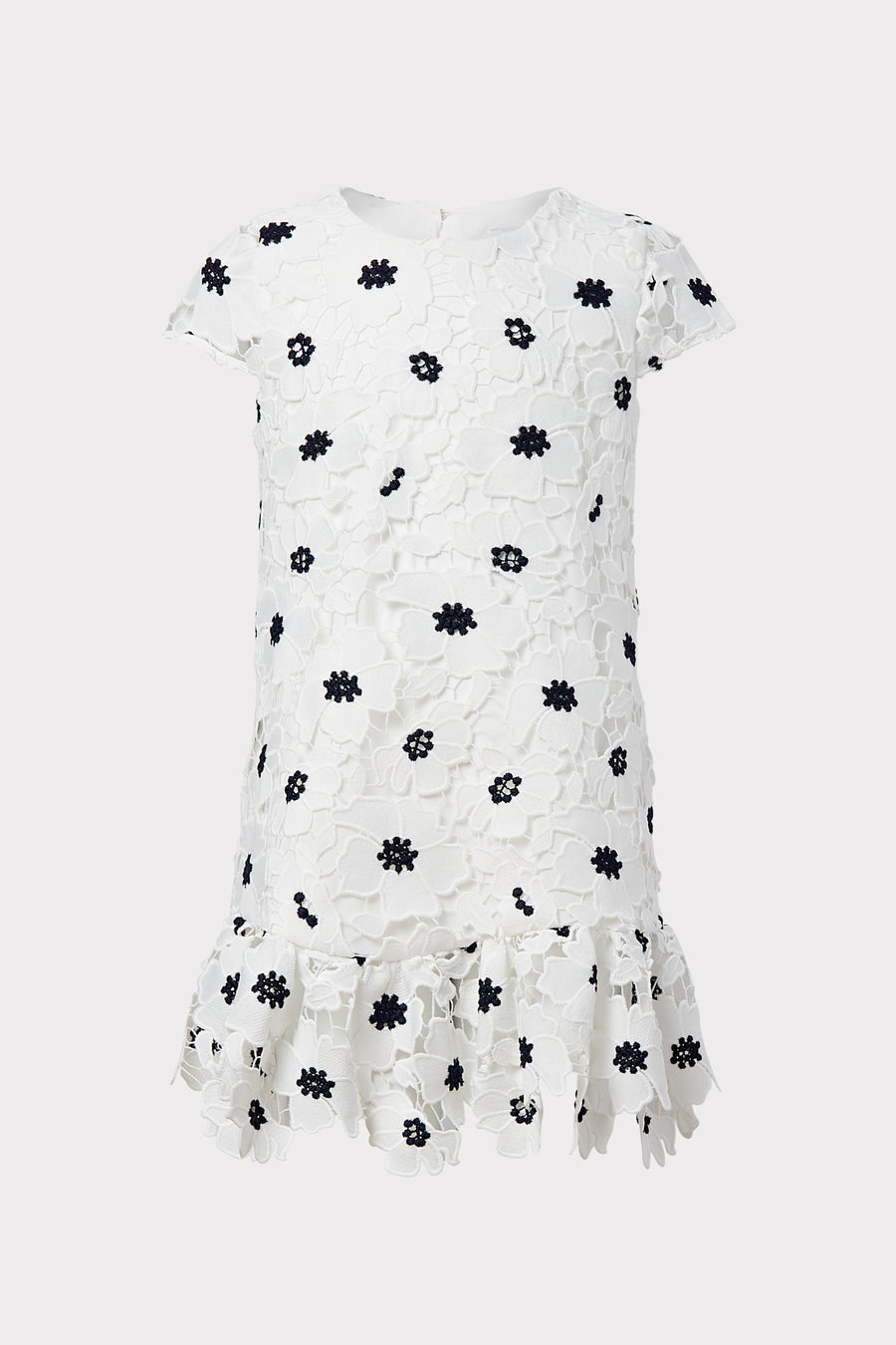Milly Minis 3D Poppy Floral Lace Dress