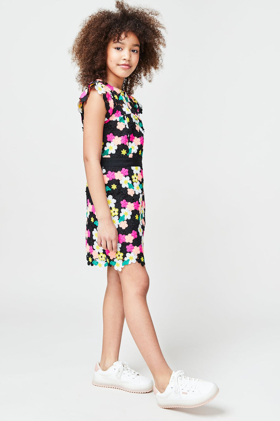 Milly Minis Floral Crochet Leila Dress