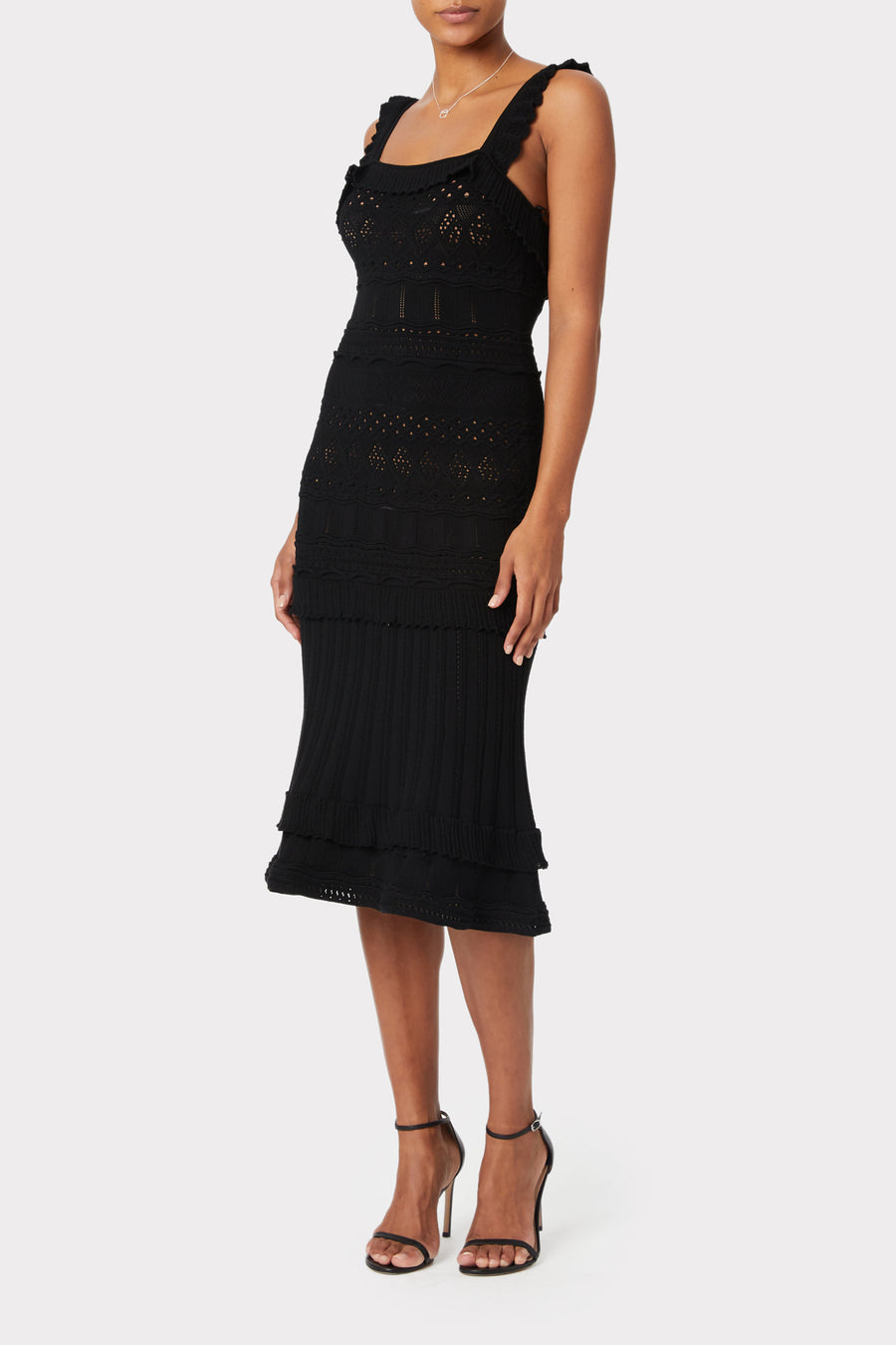 Lightweight Pointelle Midi Dress