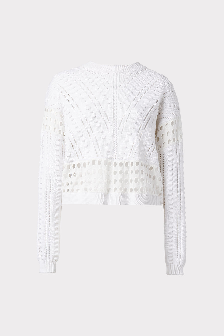 Bobble & Eyelet Sweater