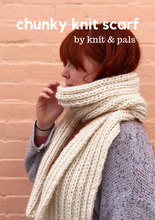 Load image into Gallery viewer, Chunky Knit Scarf