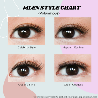 Mlen Magnetic Lashes 2 Set Bundle (Only Hepburn Liner & Greek Goddess)