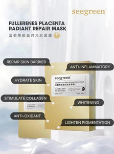 Seegreen Fullerenes Placenta Radiant Repair Mask