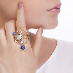 MD1426 - Infinite Ring - Mirror - Sodalite - Reflexo - RPV International Trading LLC