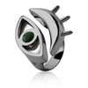 MD1429 - Look Ring - Mirror - Emerald - Reflexo - RPV International Trading LLC