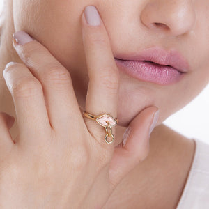 MD1445 - SMALL KISS RING - PINK - KISS ME - RPV International Trading LLC