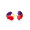 MD1750 - TARSILA EARRING - PURPLE AGATE/RED ACRYLIC - GALERIA