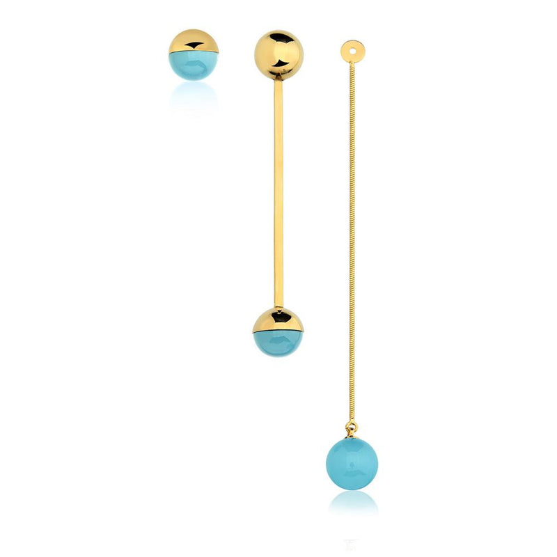 MD866 - DOT LONG EARRING - ICONIC - RPV International Trading LLC