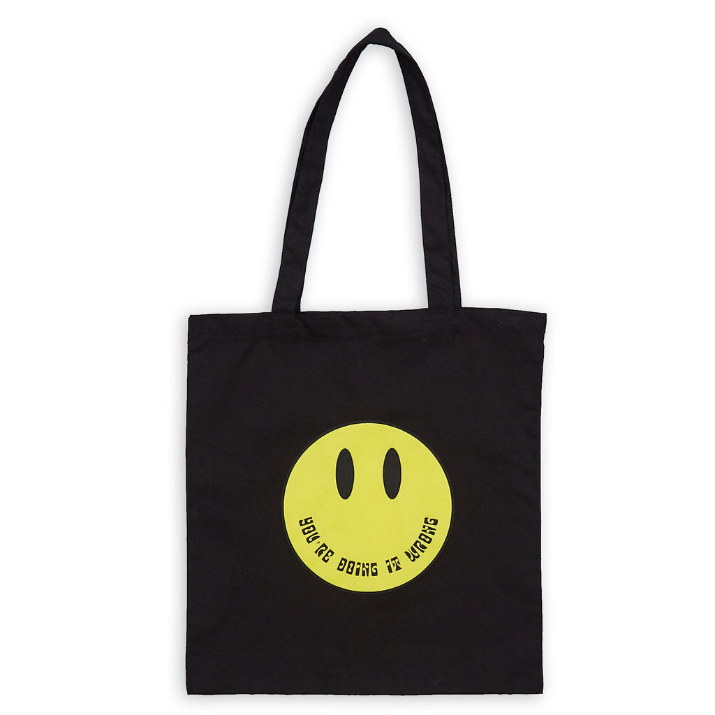 Smile Tote Bag - Black