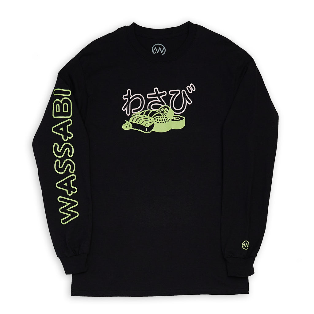 Sushi 2 Color Long Sleeve - Black