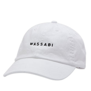 Wassabi Text Dad Cap - White