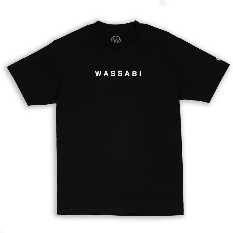 Wassabi Text Tee - Black