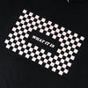 What It Is Checker Crop Long Sleeve - Black
