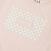 What It Is Checker Tee - Light Pink