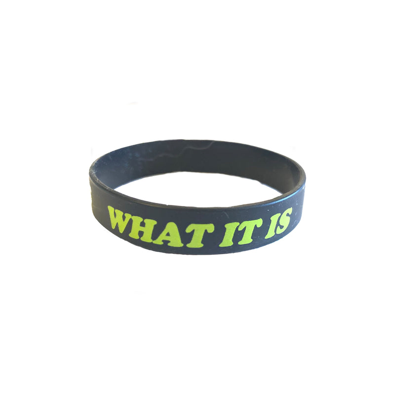 What It Is Rubber Bracelet - Black