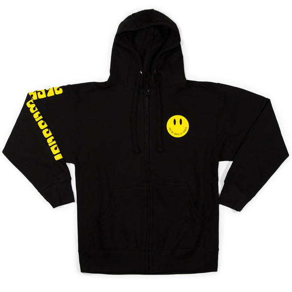 Smiley Zip Up Hoodie