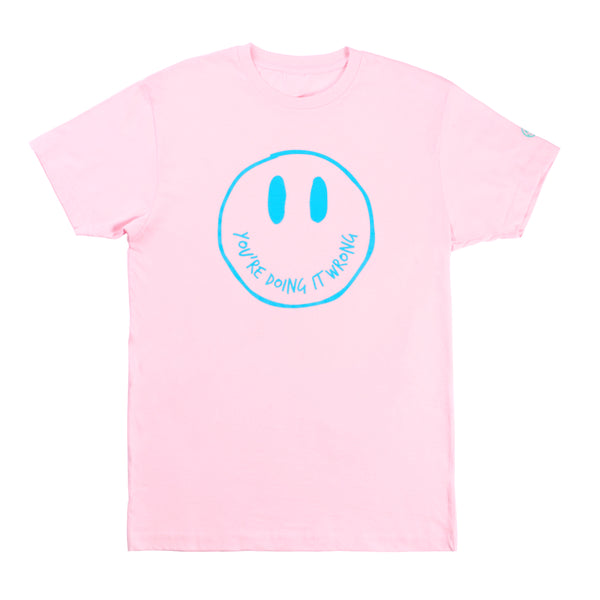 New Smiley Tee - Pink