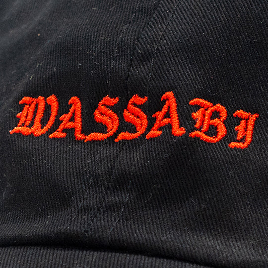 Wassabi Old English Dad Cap - Black