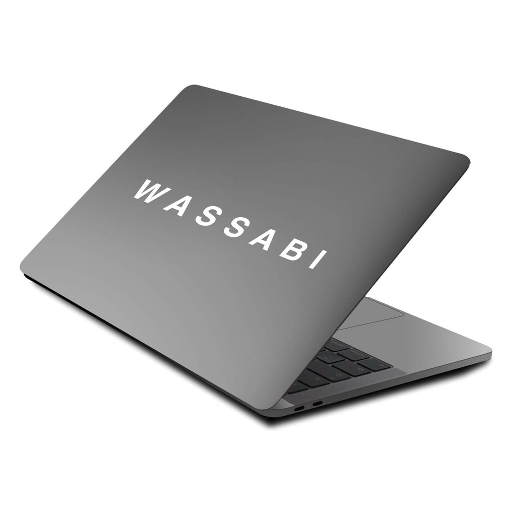 Wassabi Text Decal Sticker - White