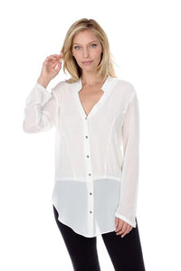 Long Sleeve Button Down Top-Poppy Street