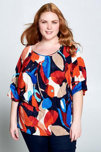 Short Sleeve Lily Top Curvy-Poppy Street
