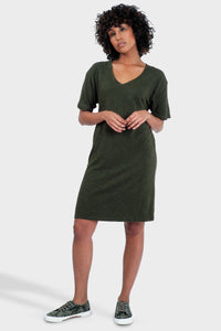 Mika T-Shirt Dress Forest-Poppy Street