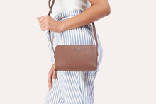 Load image into Gallery viewer, Zip Around Crossbody Pebble Leather-Poppy Street
