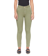 Load image into Gallery viewer, Alexa High-Rise Skinny Ankle Jeans Olive-Poppy Street
