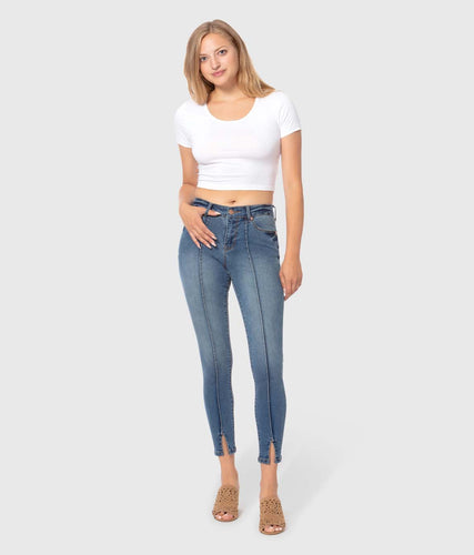 BLAIR Mid-Rise Skinny Ankle Jeans-Poppy Street