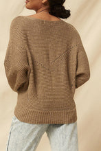 Load image into Gallery viewer, Ribbed Knit Boatneck Sweater-Poppy Street