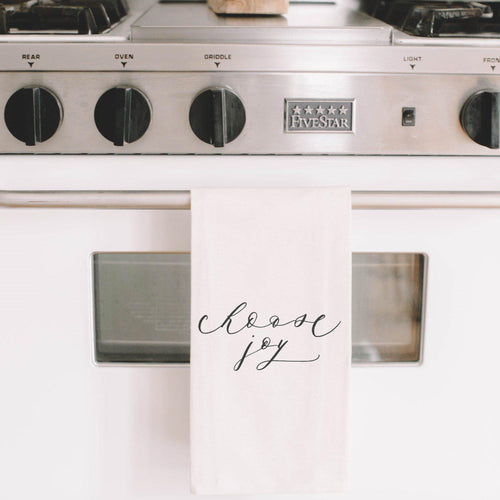 Choose Joy Linen Hand Towel