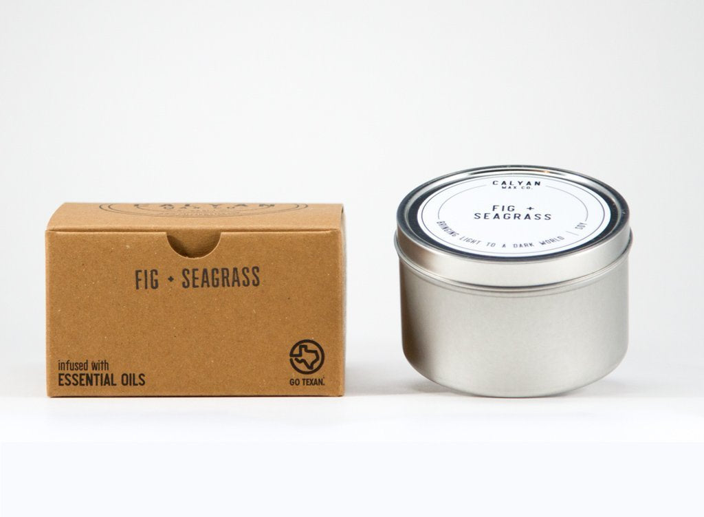 Fig + Seagrass Tin Candle-Poppy Street
