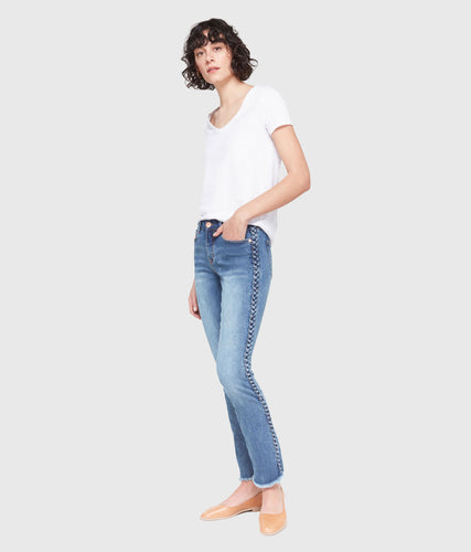Kristine Mid-Rise Straight Ankle Jeans-Poppy Street